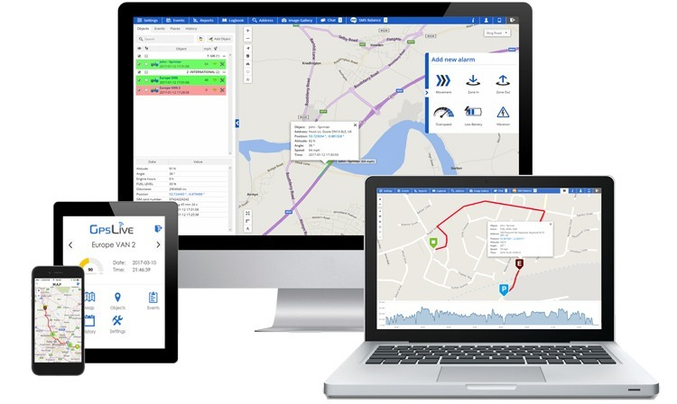 Track your devices on Smartphone, PC or Tablet